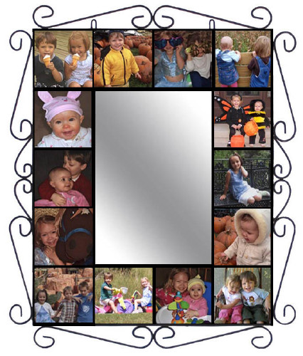View Wrought Iron Mural Frame With Mirror Timeless Expressions
