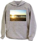 Ash Heather Hooded Sweatshirt