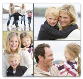Mouse Pad With Four Photo Collage