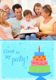 5x7 Card: Come To My Party